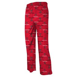 Youth NCAA Texas Tech Red Raiders Team Logo Printed Pants - Red - Medium
