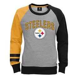 NFL Pittsburgh Steelers Unisex Fleece Crew Sweatshirt - Heather Grey - S