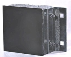 """Durable 13-1/4""""x10""""x4-1/2"""" Steel Face Rubber Loading Dock Bumpers"""