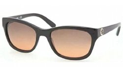 Tory Burch Sunglasses - TY7044 / Frame: Black Lens: Grey Orange Fade
