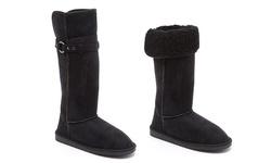 Serene Women's Comfort Spencer Boots - Black - Size: 8.5