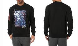 Rocawear Blak Men's Fleece Sweatshirts 3D Fun House - Black - Size: 2X