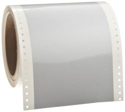 "Brady 36630 33' Length x 4"" Width, B-936 Fluorescent, White GraphicsPro Tape"
