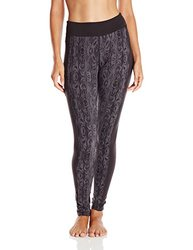 Women's Soybu Toni Printed Yoga Leggings Dark Forest
