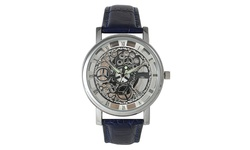 Collection Men's Imitation Skeleton Quartz Watch