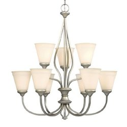 Galaxy Lighting 810276PT 9 Light Rowen Chandelier, Pewter ; 810276PT
