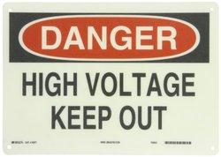 10 in. x 14 in. Fiberglass Electrical Hazard Sign