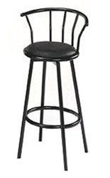 Swivel Bar Chair in Finishes by Acme black