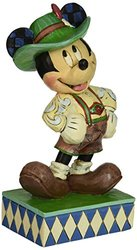 Enesco Disney Traditions by Jim Shore Mickey in Germany Figurine, 6 IN