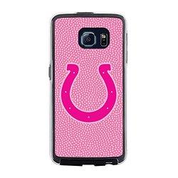 NFL Indianapolis Colts Football Pebble Grain Feel No Wordmark Samsung Galaxy S6 Case, Pink