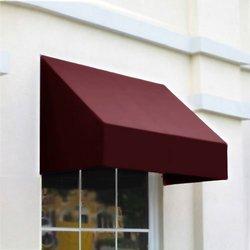Awntech CN43-3B, Window/Entry Awning 3-3/8'W x 4-11/16'H x 3'D Burgundy