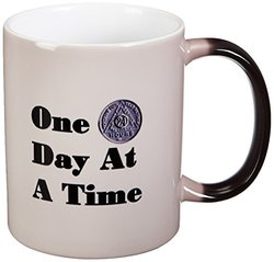 3dRose Image of One Day at a Time with Medallion Magic Transforming Mug, 11-Ounce