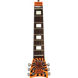 Shredneck Zakk Signature Practice Guitar Neck - Orange & Black Buzz Saw