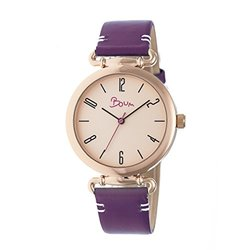 Boum Lumiere Ladies Watch: BM4307 Plum Band-Rose Gold Dial