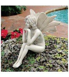 Design Toscano The Secret Garden Fairies Pondering Fairy Statue