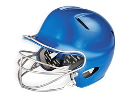 Easton Natural Senior Batting Helmet with Mask - Royal