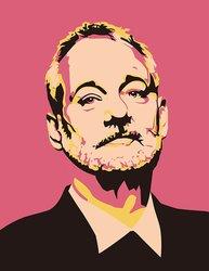 "JP London Ustrip Mural Bill Murray Wallpaper Sticker - Size: 19.75"" x 24"""