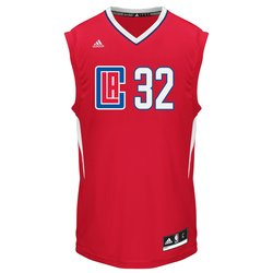 Adidas NBA Men's Los Angeles Clippers Replica Jersey - Red - Size: Large