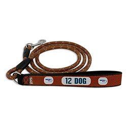 GameWear NFL Seattle Seahawks 12th Dog Football Leather Rope Leash - Brown