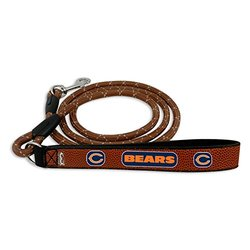 GameWear NFL Chicago Bears Football Leather Rope Leash - Brown