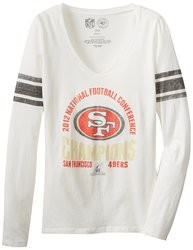 47 NFL San Francisco NFC Champ Women's Homerun Tee - White Wash - Size: M