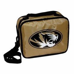 Concept One NCAA Missouri Tigers Pack It Freezable Lunch Bag - Black