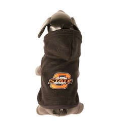 All Star Dogs NCAA Polar Fleece Hooded Dog Jacket - Brown - Size: M