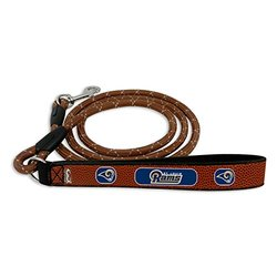 GameWear NFL St Louis Rams Football Leather Rope Leash - Brown