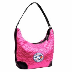 Little Earth MLB Toronto Blue Jays Quilted Hobo Bag - Pink - Size: One
