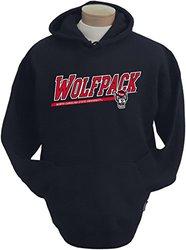 CI Sport NCAA Men's Wolfpack Zooey Hooded Sweatshirt - Black - Size: Small