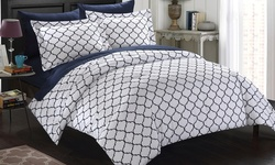 Chic Home 7 Piece Bentley Diamond Biab Comforter Set - Grey - Size: King