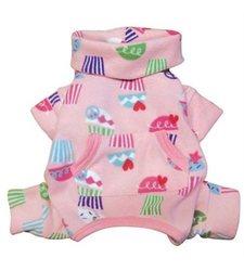 Klippo Peace Signs & Cupcakes Fleece Turtleneck Dog Body Suit - Size:Large