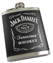 Jack Daniel's 6 Oz Stainless Steel Barrel Flask - Silver
