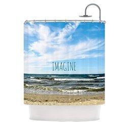 Kess InHouse Iris Lehnhardt 'Beach Sky Imagine' Shower Curtain, 69 by 70-Inch