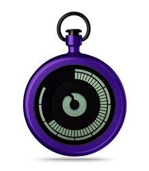 Ziiiro Titan Pocket Watch - Purple (Z0009PWP)