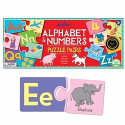eeboo Alphabet and Number Puzzle Pairs
