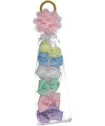 "So'dorable ""Grosgrain Ribbon"" 6-Pack Clip-On Bows - Pink/Multi - One size"
