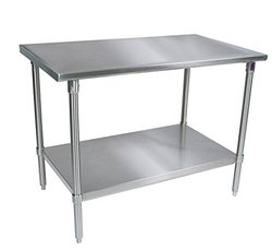 "John Boos 16 gauge Stainless Steel Work Table Base and Shelf 48"" x 24"""