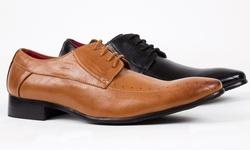 Royal Men's Square Toe Lace-up Dress Shoes: Black/11