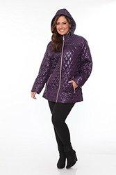 Womens Plus Size Puffer Coat: Purple/3x