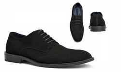 Joseph Abboud Men's Suede Ralph Oxfords - Black - Size: 10.5