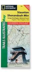 National Geographic Staunton/Shenandoah Mountain Map