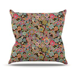 "Kess InHouse 20x20"" ""My Butterflies and Flowers in Brown"" Throw Pillow"