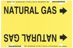 Brady Printed Plastic Sheet Strap-On Pipe Marker - Black/Yellow (4097-F)