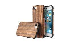 Rock Natural Wood Design iPhone 7 or 7 Plus Soft Cases - Sandalwood