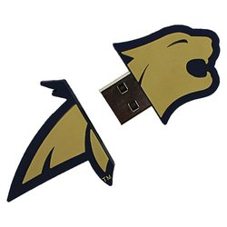 "Flashscot NCAA 8GB Montana State ""Fighting Bobcat Shape"" USB Drive(C9341Q)"