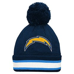 NFL San Diego Chargers Youth Cuffed Knit Hat - Dark Navy