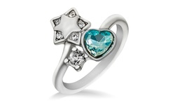 Star Diamond Ring - Blue - Size: 9