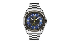 Bulova Men's Precisionist Watch - Silver Bracelet Blue-Black Dial