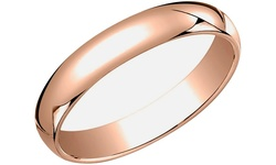 Rose Gold Plated Sterling Silver Wedding Band - Size: 8